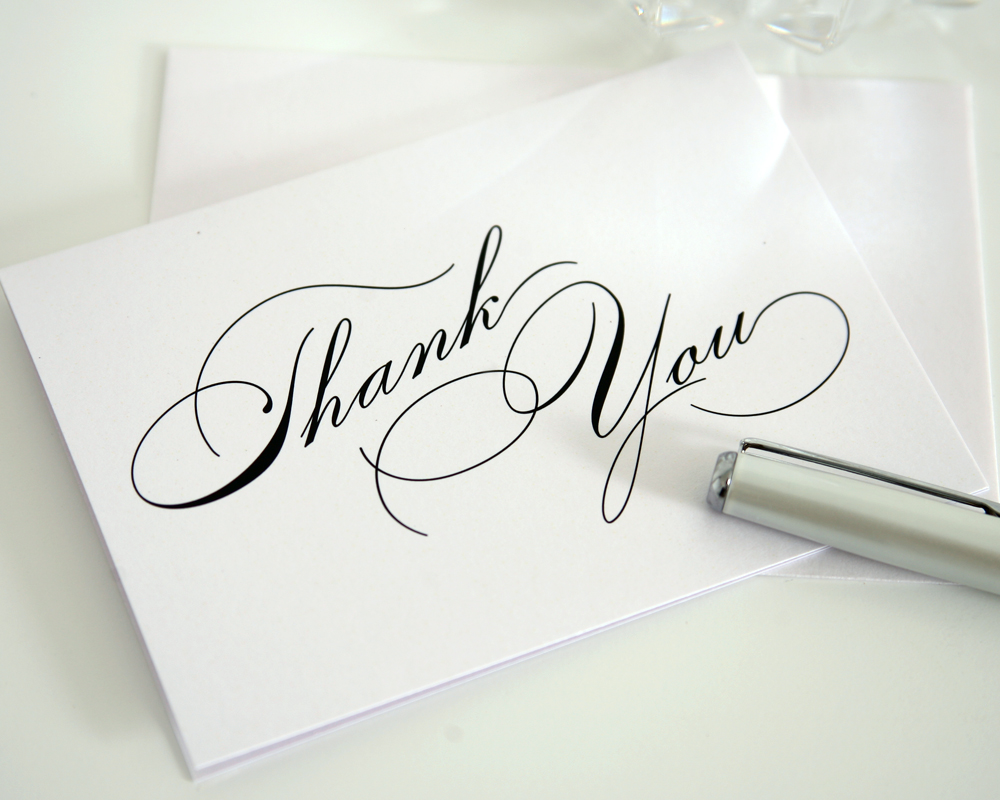 Rochester Wedding Thank You Notes